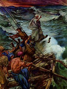 Jesus Stills the Tempest, William Hole 1908