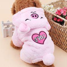Cheap Cute Pink Pig Mascota Perro Pijamas Mono Chaqueta Sudaderas Trajes Del…