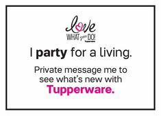 I am an Online Independent Tupperware Consultant with electronic Invoicing for immediate payment available and it ships directly to you so it doesn't matter where you live! Must see new items! PM me for more information OR to place an order!! Feel free to join my group for many specials good only through me! https://www.facebook.com/groups/TupperwarebyTraci/