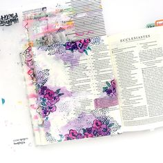 mixed media color mixing Bible journaling tutorial by Heather Greenwood | Proverbs 31