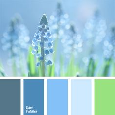 This combination of pastel shades will be ideal in decoration of an apartment. If you prefer cold colors, this palette is just for you..