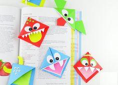 Bookmark de morsomme små dyrene origami. Originale origami bokmerker for bøker - gjør lesing enda morsommere.