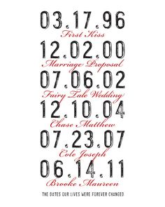 Personalized Art Date Print Vintage by TheMemoryGallery on Etsy, $24.00