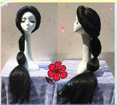 Princess Jasmine Cosplay Wig, 100cm Long Aladdin Disney Princess Anime Wig for Party UF081