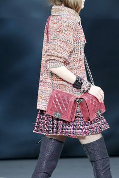 Chanel Red Double Boy Flap Bag - Fall 2013 Runway