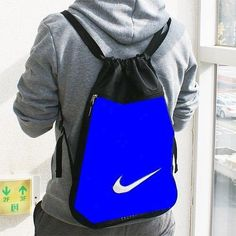 dec83720fb NEW NIKE Air Women Men Bag Drawstring Team Gym Sack Sport Training Yoga Red  Gray