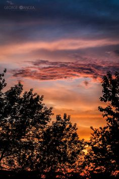 (another) sunset from my balcony by George Oancea on 500px