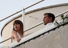To the distance: The duo appeared to be gazing into the distance no doubt at the exquisite...