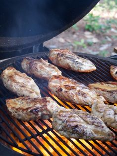grilled chicken on the grill getting brushed with sauce grilling recipes;recipes for grilling;grilling tip; Grilling Tips, Grilling Recipes, Cooking Recipes, Outdoor Grilling, Healthy Grilling, Outdoor Cooking, Keto Recipes, Bbq Chicken, How To Cook Chicken