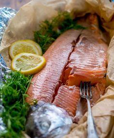 Haudutettu uunilohi | Maku Fish Recipes, Seafood Recipes, Paleo Recipes, Cooking Recipes, A Food, Good Food, Food And Drink, Fish Food, Linguine