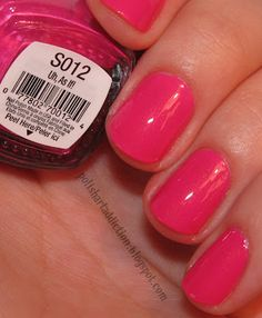 Spoiled - Uh, As If!  Bright pink with gold shimmer