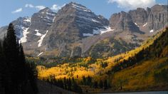 Fall colors come to White River National Forest in Colorado. Nestled in the heart of the Rocky Mountains, the 2.3 million-acre White River National Forest is the top recreation forest and is home to Maroon Bells, the most photographed peaks in North America. (USDA/Scott Mecum)