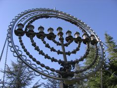 This Menorah marks highest spot in Jerusalem in Mount Herszl in honor of Benjamin Herszl.Who belived the Jewish people needed their own homeland,to end anti-semitism