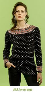 For the Ultimate Sweater Machine®  Fair-Isle Tunic  Designed by Kathy Perry