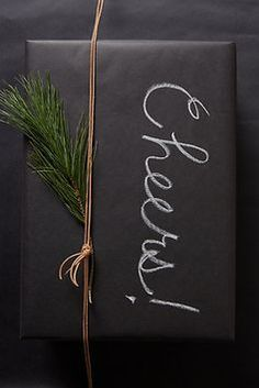 Loving this chalkboard wrapping paper!