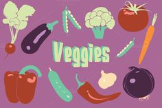 Check out Vegetable Vector Clipart by Digital Sugar on Creative Market