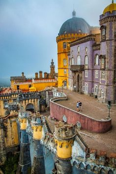 Pena Palace by Dave Lessard on (Sintra, Portugal) Places Around The World, The Places Youll Go, Travel Around The World, Great Places, Places To See, Beautiful Places, Around The Worlds, Visit Portugal, Spain And Portugal