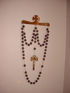 Wall Rosary On Pinterest Rosary Beads Wall Hangings And