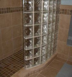 Find This Pin And More On Casa Nueva Glass Block Shower Wall For Small Bathroom Showers For Small Bathrooms Idea