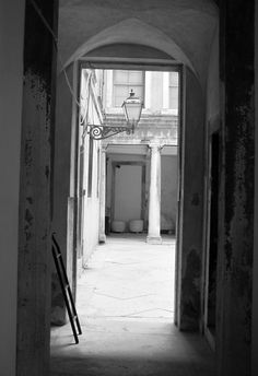 Venice, courtyard of a museum