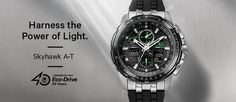 Citizen Eco-Drive harnesses the power of light from any natural or artificial light source and converts it into energy so it never needs a battery.