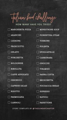 Hotel Bee - Travel tips and Travel Guides Travel Checklist, Travel List, Italy Travel, Travel Guides, Challenge Instagram, Food Template, List Template, List Challenges, Food Challenge