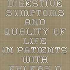Digestive Symptoms and Quality of Life in Patients with Ehlers-Danlos