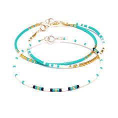 Mínima pulsera joyería oro azul Aqua pulsera por ToccoDiLustro