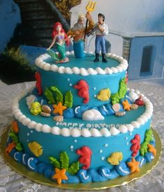 Little Mermaid cake of awesome.