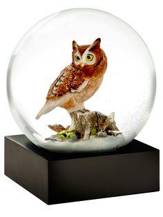 Snow Globe Owl - Eastern Screech Owl Design