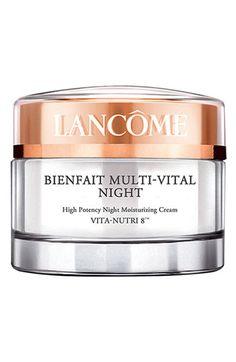 Lancôme Bienfait Multi-Vital Night Cream available at #Nordstrom