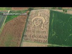 Dibuja en la tierra un rostro de Cristo de 24.000 metros cuadrados por el Jubileo