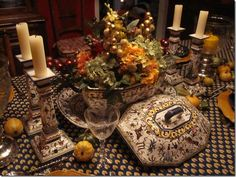 french country Fall table decoration