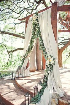 27 Floral Ceremony Arch Decoration Ideas ❤ See more: http://www.weddingforward.com/wedding-arch-decoration-ideas/ #weddings #decorations