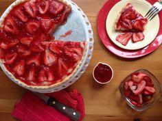 French Strawberry Tart | My Sweet Precision French Strawberry Tart Recipe, Strawberry Topping, Sweetened Whipped Cream, Homemade Whipped Cream, Custard Ingredients, French Tart, Custard Filling, Tart Shells, Dried Strawberries