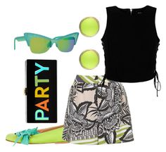 """""""Summer Fun"""" by engleann ❤ liked on Polyvore featuring Marni, Topshop, Marciano, Alexis Bittar, Italia Independent and Milly"""