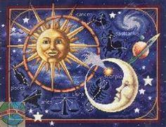 counted cross stitch celestial
