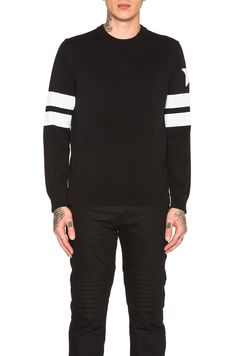 GIVENCHY Banded Sleeve Sweater. #givenchy #cloth #