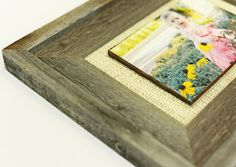 Creating a Burlap Mat for a Picture Frame.
