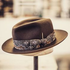 Custom creation for @anthonybogdan Truffle centre dent fedora with trim made from a vintage scarf. This is one of my favorites and if it wasn't because I had made it to fit Anthonys head I would have kept it for myself! If you want something similar visit http://ift.tt/1Wh3LMT to place your custom order. #handmade #custommade #hat #hats #hatmaker #madeindenmark #hornskov #københavn #copenhagen #hornskovkobenhavn #hatabouttown by hornskovkobenhavncom
