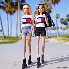 Rolling into Venice with my girl @gigihadid! Only one day until her second collection for @TommyHilfiger debuts and much to do before then! #TommyXGigi #gigihadid #barbie #barbiestyle