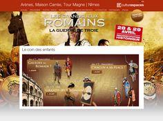 Culturespaces : création et réalisation des 11 sites internet des lieux et monuments + minisites événementiels + opérations emarketing + jeux #Minitl www.minit-l.com