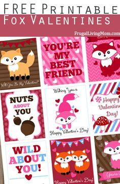 Free Printable Fox Valentines