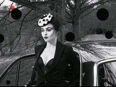 Vivienne Westwood Gold Label Corset.  Vogue UK July 2013: Helena Bonham Carter by Mert Alas and Marcus Piggott