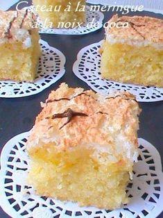 Délicieux gateaux à la meringue à la noix de coco , facile à préparer et rapide pour un resultat vraiment délicieux. Ingrédients - 300 g de farine - 2 c à café de levure chimique - 200 g de sucre - 4 jaunes d'oeufs - 200 g de beurre (margarine) fondu...