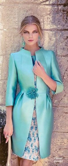 Carla Ruiz 2014 Could work as other of the bride outfit. Suit Fashion, Womens Fashion, Coast Dress, Mode Glamour, Mode Inspiration, Beautiful Dresses, Evening Dresses, Dress Up, Dress Lace