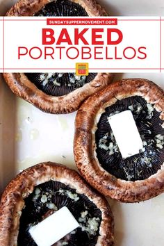 Our Baked Portobello Mushrooms with Cheese are easy to make and stuffed with flavor from garlic, herbs, and a bubbly cheese topping. Easy prep with just 20 minutes of bake time and simple ingredients! #SundaySupper #mushrooms #mushroomrecipe #easyrecipe #easydinner #dinnerrecipe #sidedishrecipe #appetizerrecipe #portobellomushrooms Baked Portobello Mushrooms, Baked Mushrooms, Stuffed Mushrooms, Finger Food Appetizers, Finger Foods, Appetizer Recipes, Best Side Dishes, Side Dish Recipes, Creamy Pasta Bake