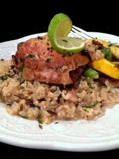 Cooking for My Peace of Mind: Slow Cooker Lime Garlic Chicken #SundaySupper
