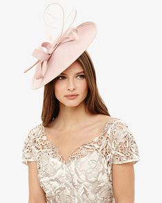 Phase Eight Addison Disc Fascinator Pink Occasion Hats a8ef6d49c0b2