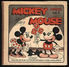 Primeira revista em quadrinhos do camundongo Mickey,           publicada em 1931 pela editora norte-americana David McKay Co.